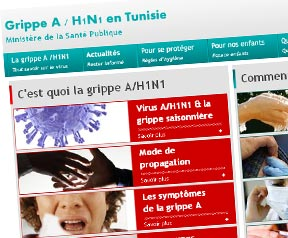 Creation site web Grippe A en Tunisie