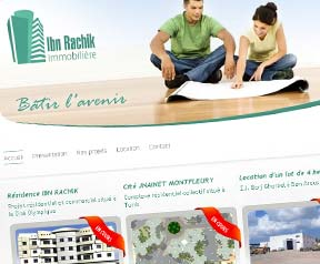 Creation site web Immobiliere ibn rachik