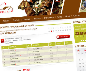 Creation site web  Tunisie galop